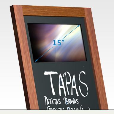 SIRKOM - SMIL-Board15 - Digital Chalkboard for Restaurants with 15 ...