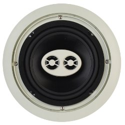 AccentPLUS1 Stereo In-Ceiling Speaker 6.5 inches with Dual Fixed Tweeter (Single)
