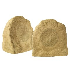 AccentPLUS Sandstone Rock Speaker 8.0 inches with Fixed Tweeter (Pair)
