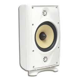 AccentPLUS2 White Stereo Outdoor Speaker 8.0 inches with Dual Fixed Tweeter (Single)